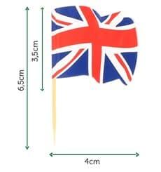 """Pinchos Banderita """"UK"""" 65mm (144 Uds)"""