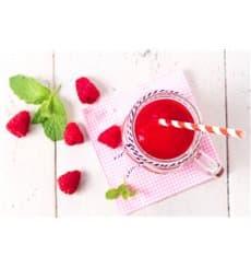 Pajita Recta de Papel Rojo y Blanco Ø6mm 20cm (100 Uds)