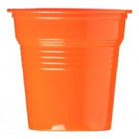 Vaso de Plástico PS Naranja 80ml Ø5,7cm (50 Uds)