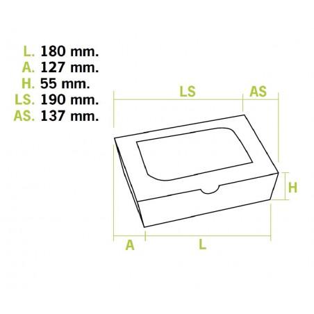 Envase de Carton Premium 18x12,7x5,5cm 1000ml (25 Uds)