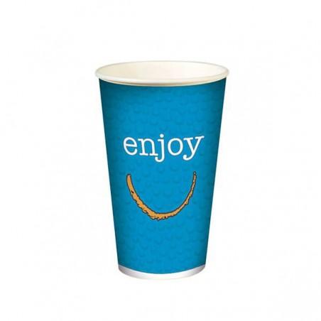 """Vaso de Cartón para Bebidas Frías 12 Oz/360 ml Modelo """"Enjoy"""" (100 Uds)"""