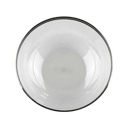 Bol Plástico Extra Rigido Transp. Ribete Plata 3500ml (4 Uds)