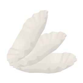 Bandeja de Cartón Ovalada Plastificada 15,5x9,5x2,5cm (250 Uds)