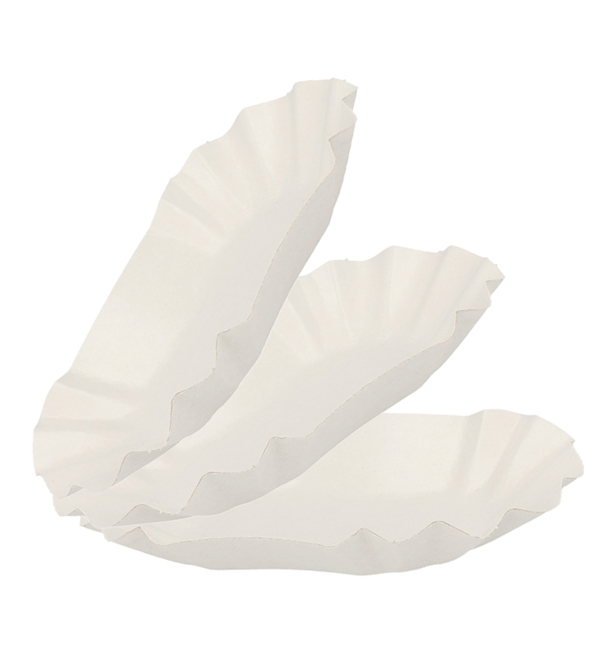 Bandeja de Cartón Ovalada Plastificada 16,5x10x3,5cm (250 Uds)
