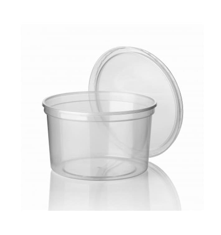 Tarrina de Plastico Transparente PP 500 ml Ø11,5cm (50 Uds)