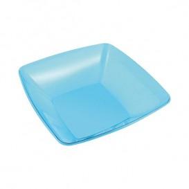 Bol de Plastico Cuadrado Turquesa 14x14cm (4 Uds)