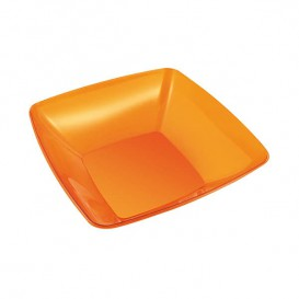 Bol PS Cristal Duro Naranja 480ml 14x14cm (4 Uds)