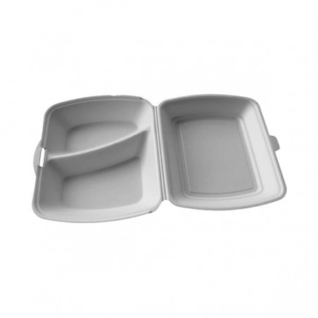 Envase Foam MenuBox 2 C. Blanco  (100 Uds)