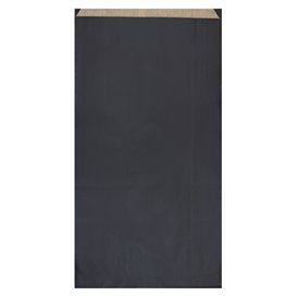 Sobre de Papel Kraft Negra 19+8x35cm (125 Unidades)