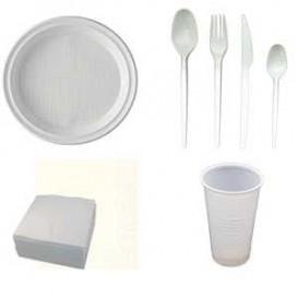 Pack Menaje: Platos, Vasos, Cucharas, Cuchillos...