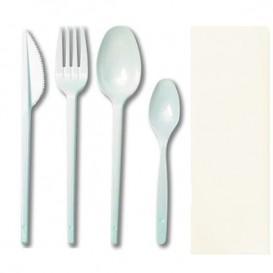 Set Tenedor, Cuchara, Cuchillo, Cucharilla y Servilleta (25 uds)