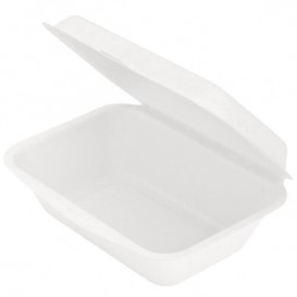 Envase MenuBox Caña Azúcar Blanco 136x182x64mm (50 Uds)