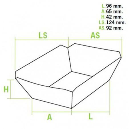 Barqueta 250ml Kraft 9,6x6,5x4,2cm (25 Uds)