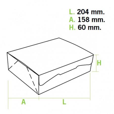 Caja Pasteleria Carton 20,4x15,8x6cm 1kg. Rosa (5 Uds)