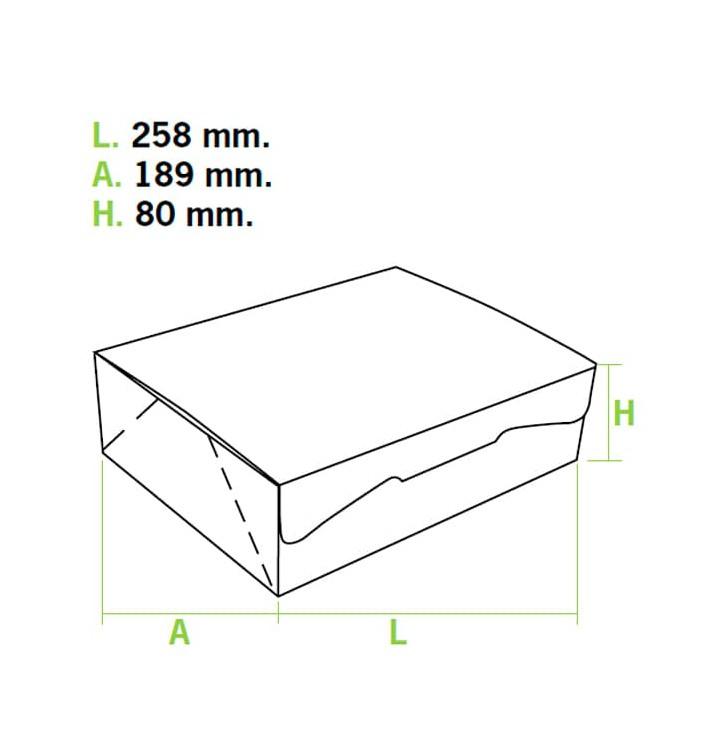 Caja Pasteleria Carton 25,8x18,9x8cm 2Kg. Rosa (25 Uds)