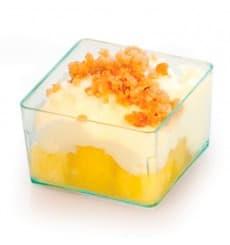 Cubo de Plastico para Salsas Verde Transp.4,2x4,2cm (24 Uds)