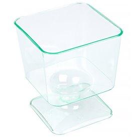"""Copa de Plastico Cuadrada """"Water Green"""" 60 ml (12 Uds)"""