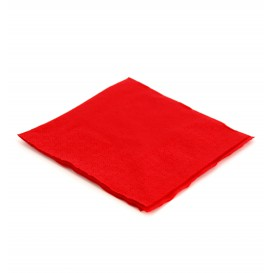 Servilleta de Papel Cocktail 20x20cm Roja (100 Uds)