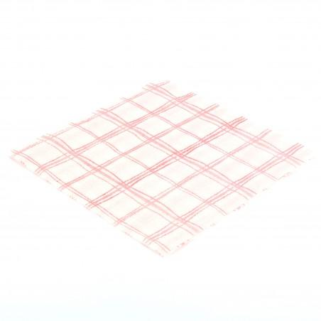 Servilleta de Papel 33x33 Cuadros Rojos 1 Capa (80 Uds)