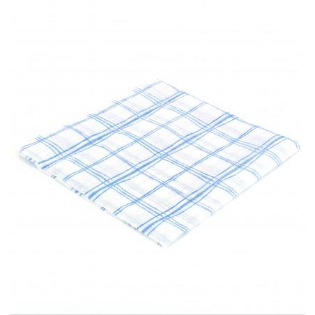 Servilleta de Papel 33x33 Cuadros Azules 1 Capa (80 Uds)