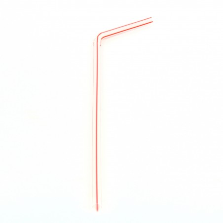 Pajita Flexible para Bebidas Ø5mm 24cm (50 Uds)