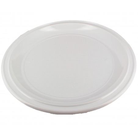 Plato de Plastico para Pizza Blanco 280mm (100 Uds)