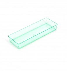"Bandeja Rectangular ""Water Green"" 4,6x13cm (12 Uds)"