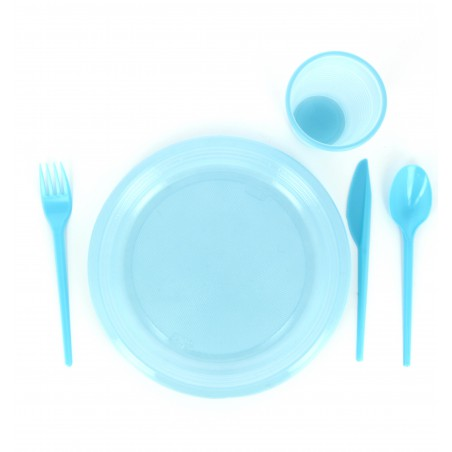 Cuchara de Plastico PS Azul 165 mm (15 Uds)