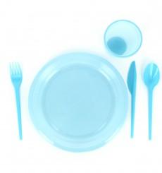 Cuchillo de Plastico PS Azul 165 mm (15 Uds)