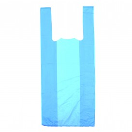 Bolsa Plastico Camiseta 35x50cm Azul (200 Uds)