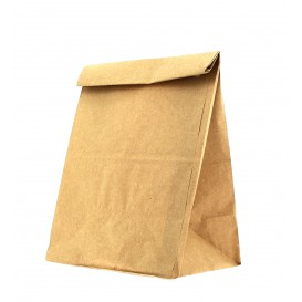 Bolsa de Papel Sin Asas Kraft Marron 15+9x28cm (25 Uds)