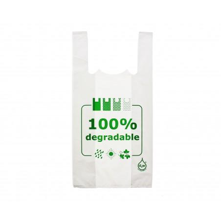 Bolsa Plastico Camiseta 100% Degradable 40x60cm (200 Unidades)