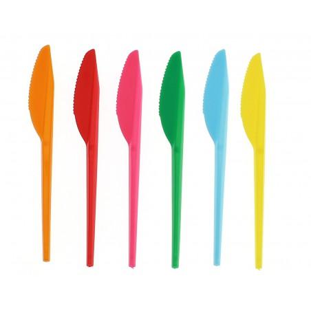 Cuchillo de Plastico PS Amarillo 165 mm (15 Uds)