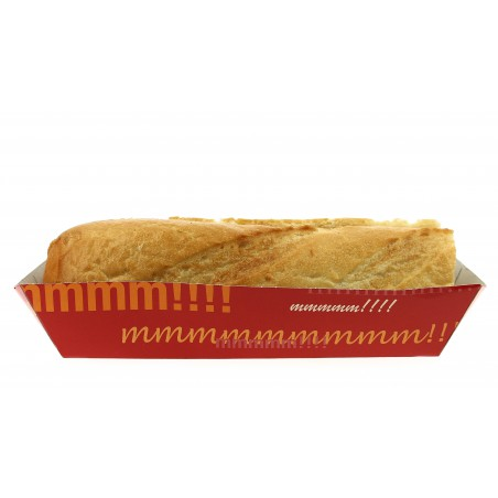 Barqueta Hot Dog 17,0x5,5x3,8cm (50 unidades)