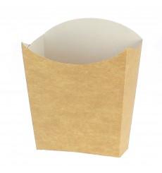 Caja Kraft para Fritas Pequeña 8,2x2,2x9cm (25 Uds)