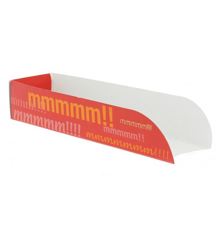 Cuña Cartón Hot Dog 17x5x3,5cm (100 Uds)