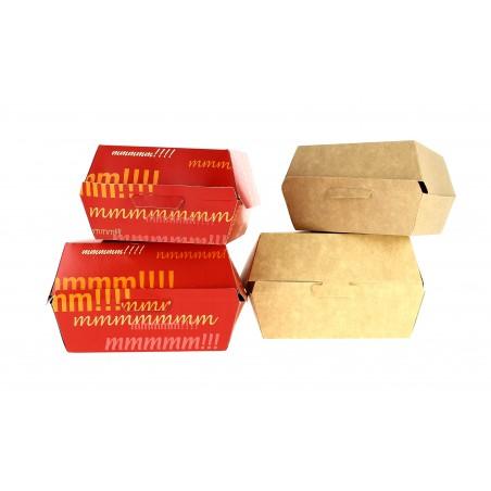 Caja Hamburguesa Cartoncillo 14x13x7,0cm (25 Uds)