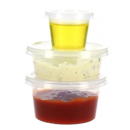 Tarrina Plastico Salsas con Tapa 33ml (100 Uds)