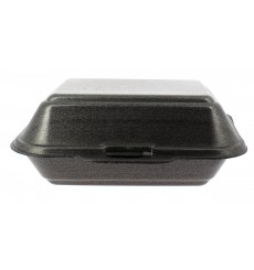 Envase Foam LunchBox Negro 185x155x70mm (125 Uds)