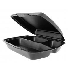 Envase Foam MenuBox 3 C. Negro 240x210x70mm (125 Uds)