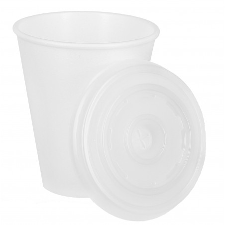 Vaso Termico Foam EPS 7Oz/200ml Blanco + Tapa (1.600 Uds)