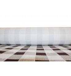 Mantel de Papel Rollo Cuadros Marrones 1x100m. 40g (1Ud)