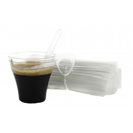 Paletina Enfundada Cafe 105mm Transp. (50 Uds)