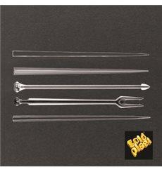 Pick de Plastico Snack Stick Transparente 90 mm (6600 Uds)