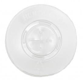 Tapa Plana con Cruz PET Cristal Ø8,1cm (100 Uds)