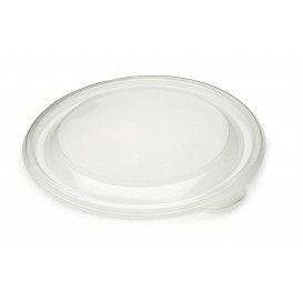 Tapa de Plastico Rigida Transp. Ø19cm (50 Uds)