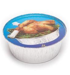 Tapa Cartón Envases Redondo para Pollo 935 y 1400ml (125 Uds)
