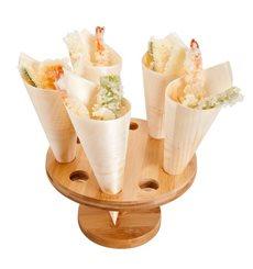 Stand de Bambú para Cucurucho 10 Huecos (1 Ud)