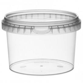 Envase Plastico con Tapa Inviolable 565 ml Ø11,8 (22 Uds)