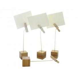 Soporte de Bambú para Tarjetas 130mm (12 Uds)